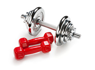 Light and Heavy dumbbells