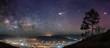 Starry night panorama