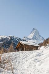 Zermatt, Dorf, Walliser Alpen, Berghaus, Winter, Schweiz