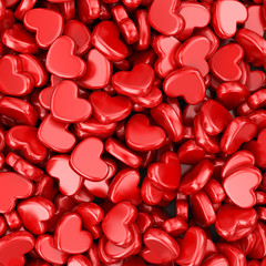Pile of love hearts. Valentine's day background
