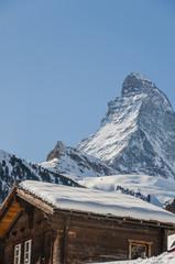 Zermatt, Bergdorf, Bergbauer, Alpen, Wallis, Winter, Schweiz
