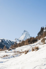 Zermatt, Dorf, Alpen, Walliser Berge, Bergbauer, Winter, Schweiz