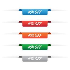 40% off paper tag labels