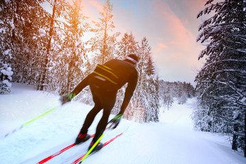 Cross-country skiing in Sweden
