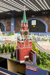 Fragment of national museum Grand Maket Rossiya