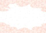 桜の雲と白い背景