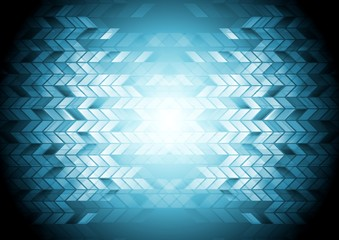 Hi-tech geometric blue background