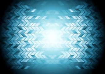 Hi-tech geometric blue background