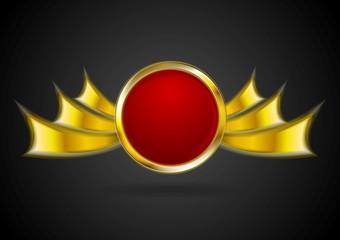 Bright golden logo element