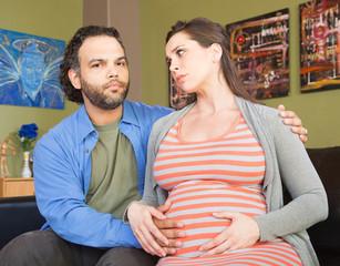 Anxious Pregnant Couple