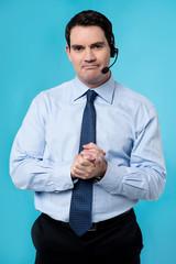 Expressive call center executive