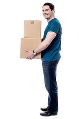 Waiting for deliver the parcels.