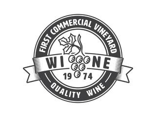 Vintage winery label