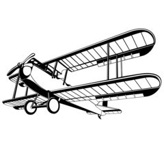 vector old biplane