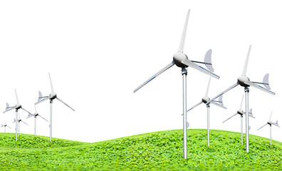 Eco power, wind turbines generating electricity