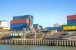canvas print picture - Binnenhafen, Container