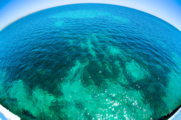 Beautiful water with nice sun sparkles on surface