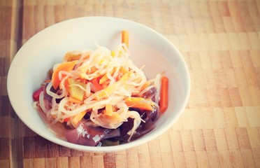 Retro filtered Chinese salad with mungo beans and Jew