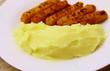 panés de poulet,purée de pomme de terre