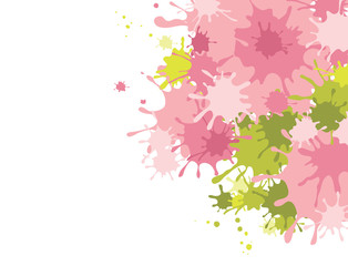 Abstract background  -- splashes of pink paint