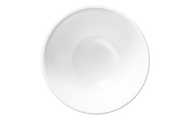 White empty saucer