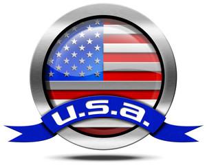 USA Flag - Metal Icon