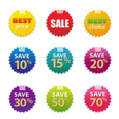 Colorful Sale Tags Set