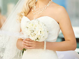 Bride with Pearl Jewelry