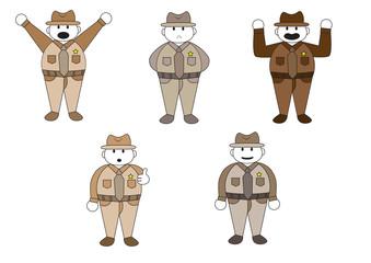 officer cartoon character