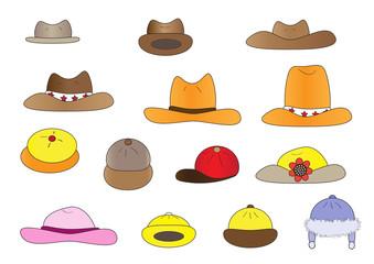 variety cartoon hats