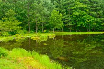 Mishaka Pond in Nagano, Japan