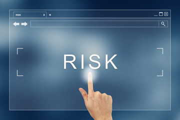 hand press on risk button on website