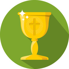 Vector Chalice.Flat  Illustration