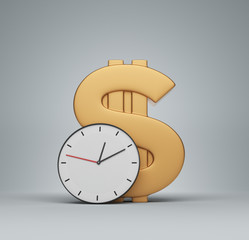Clock and money symbol