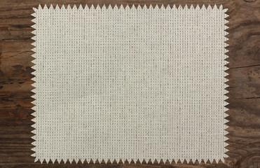 canvas napkin cloth table wooden zigzag patttern