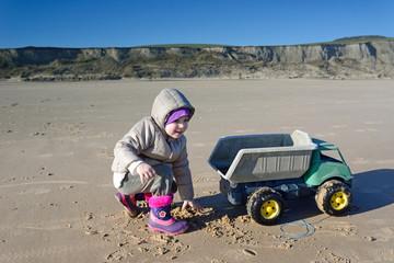 jouer sur la plage