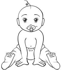 freches Baby Ausmalbild