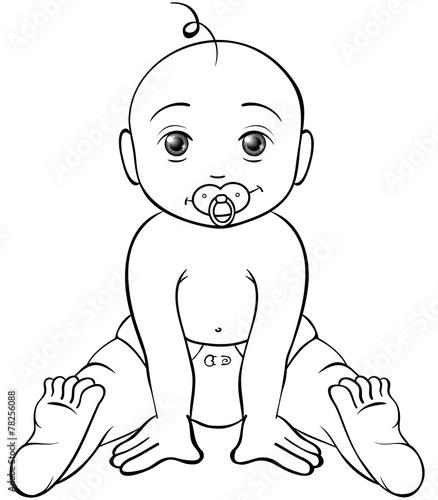 Gamesageddon Freches Baby Ausmalbild Lizenzfreie Fotos Vektoren