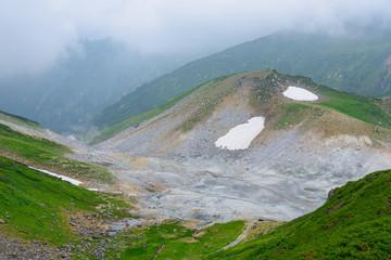 Jigokudani valley in the Tateyama mountain range in Toyama, Japa