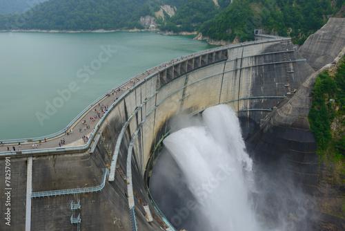 Kurobe dam in Toyama, Japan - 78257091