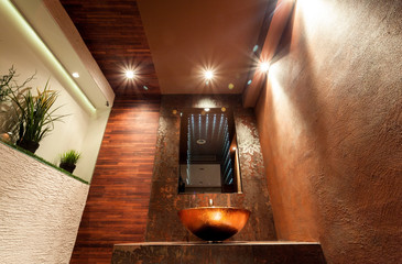 Luxury toilet in modern apartment