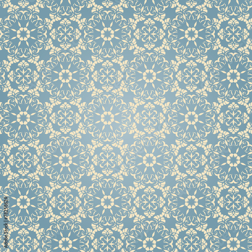 seamless pattern of the elements of Art Nouveau