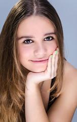 Positive teenager portrait