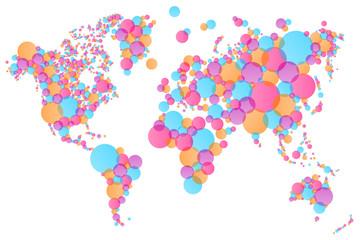 Weltkarte bunt