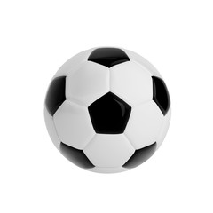 Isolated football soccer ball