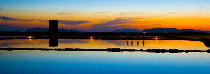 il tramonto dei riflessi