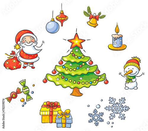 Cartoon Christmas set