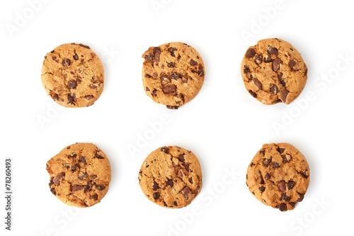 Fototapeta chocolate cookies top view