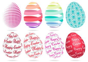 3D Easter eggs, vector set