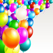 Vector illustration party balloons with space for your text